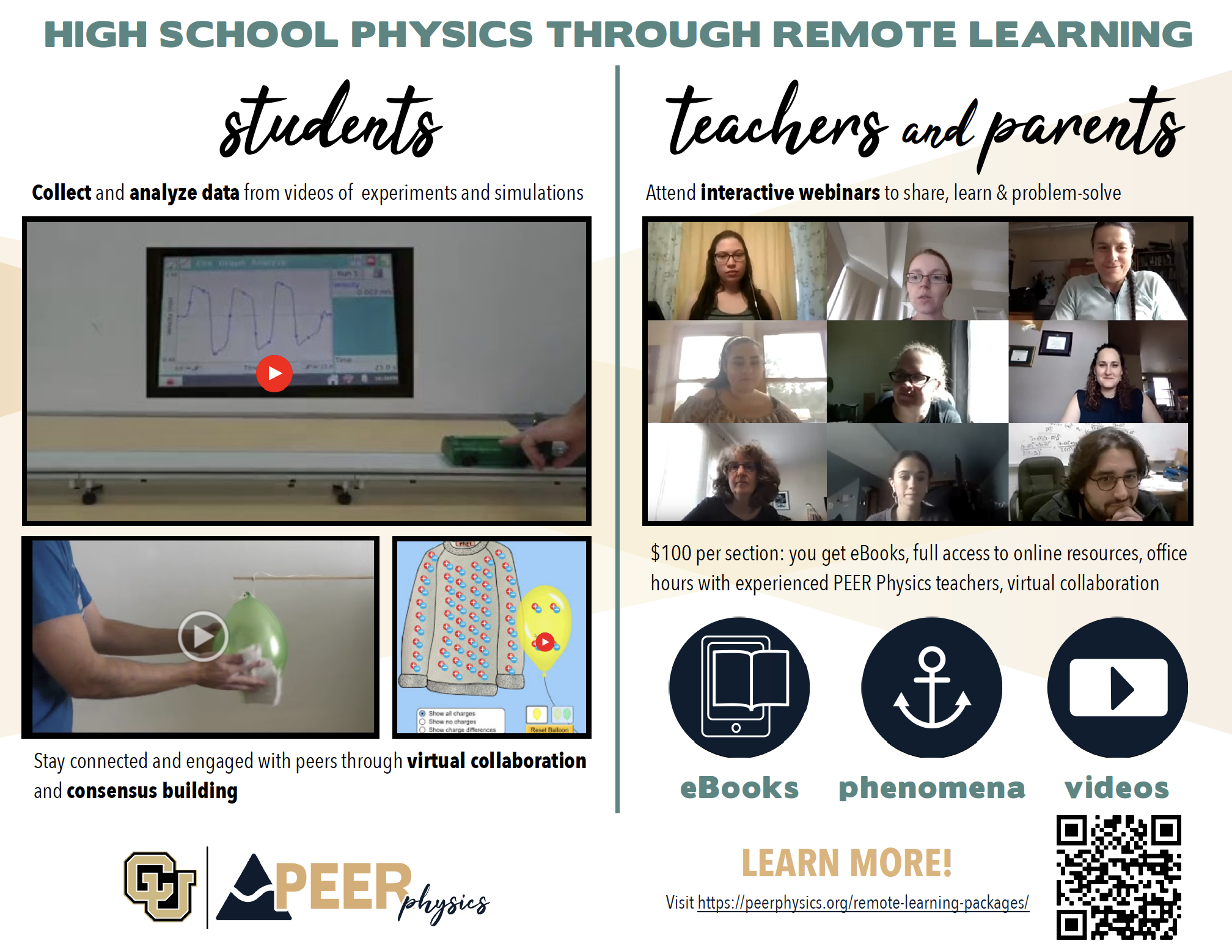 Visit https://peerphysics.org/remote-learning-packages/